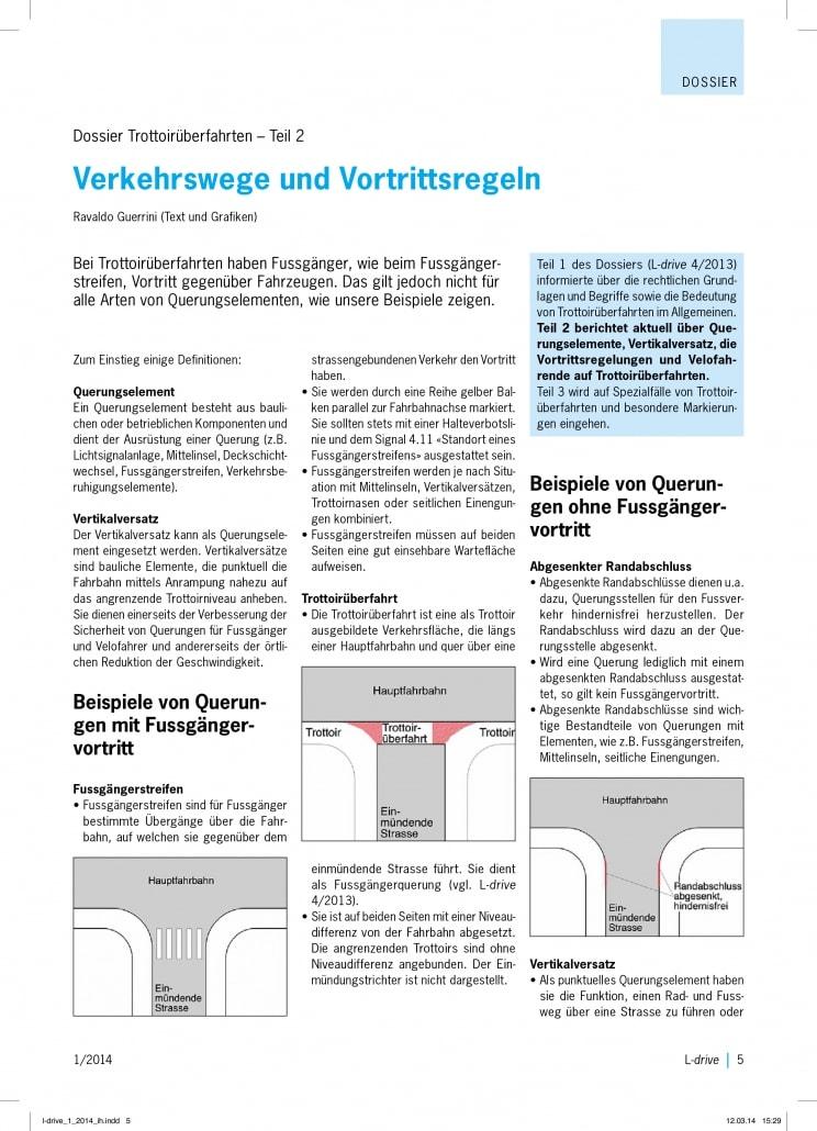Verkehrswege & Vortrittsregeln im Strassenverkehr - Fahrschule Driving Point