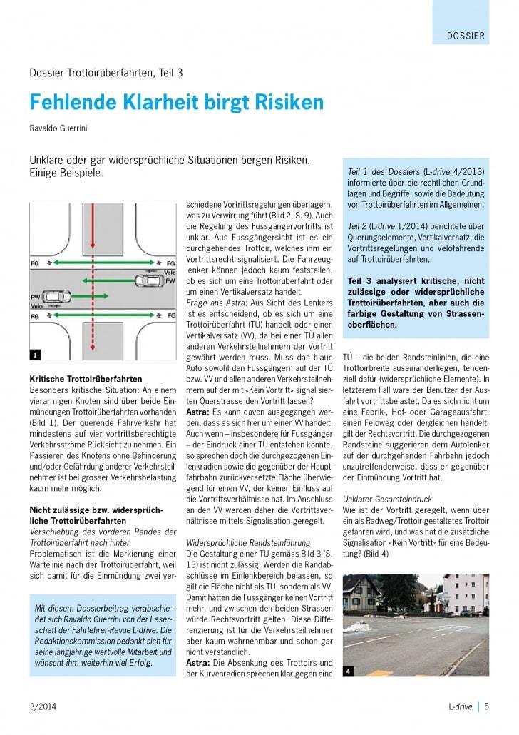 Risiken im Strassenverkehr - Fahrschule Driving Point in Wagen