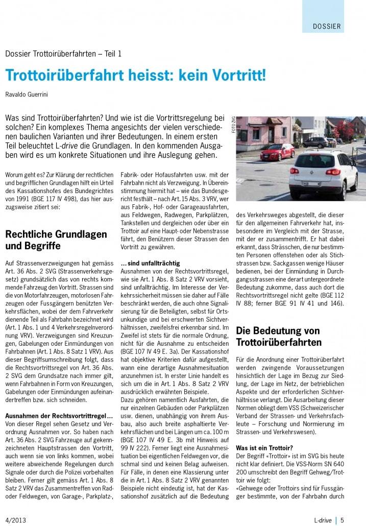 Trattoirüberfahrt - Verkehrskunde der Fahrschule Driving Point